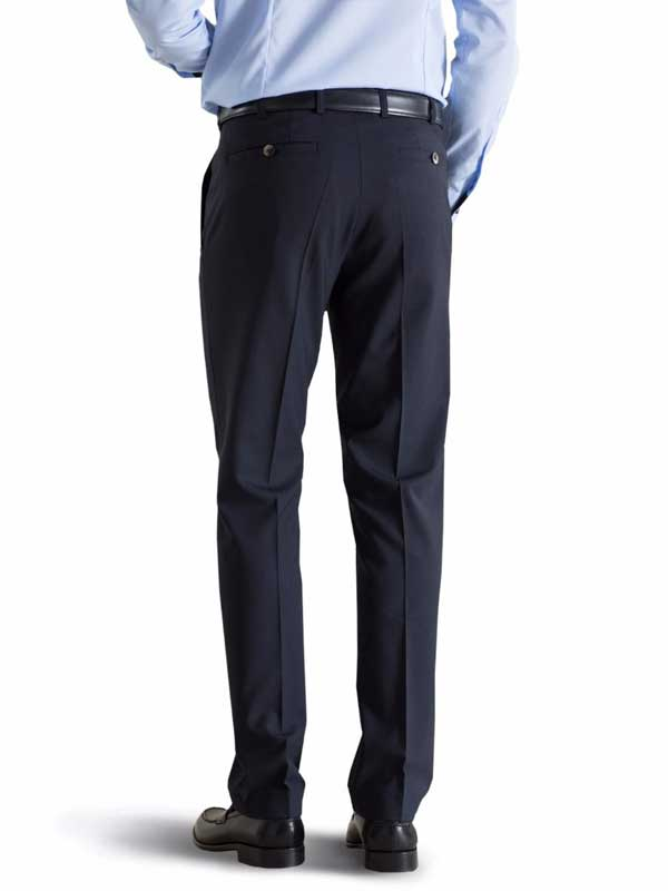 Meyer Tropical Wool-Mix Trousers - Roma 344 - Navy