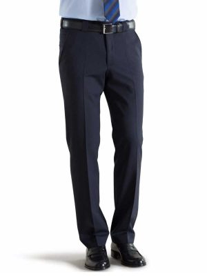 Meyer Roma 344 - Tropical Wool-Mix Trousers - Navy