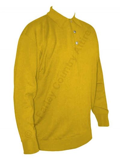Franco Ponti Long Sleeve Polo - Merino Blend 108 - Lemon