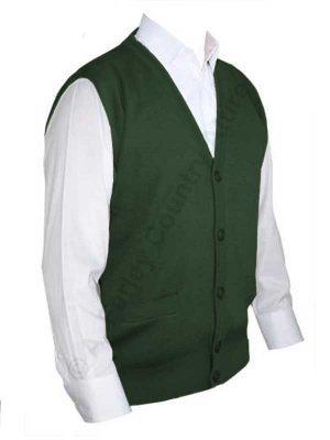 Franco Ponti Sleeveless Cardigan - Gilet - Merino Blend K06 - Green