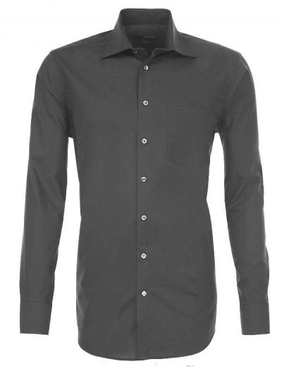 Seidensticker Shirts - Classic Splendesto Cotton - Charcoal