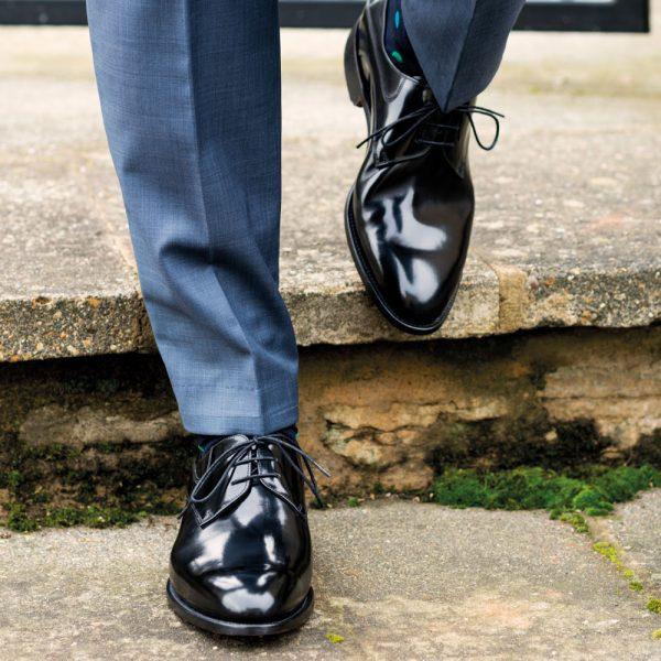 Barker Wickham - Derby Style - Black Hi-Shine