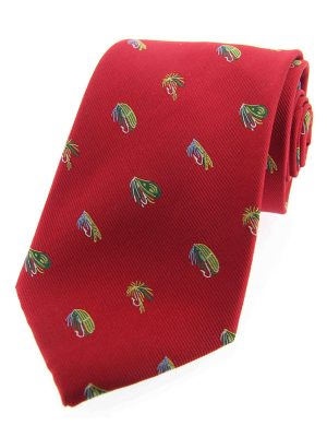 Soprano - Red Fly Fishing Woven Silk Country Tie