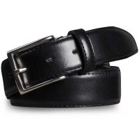 Meyer Trousers Stretch Leather Dress Belt – Black