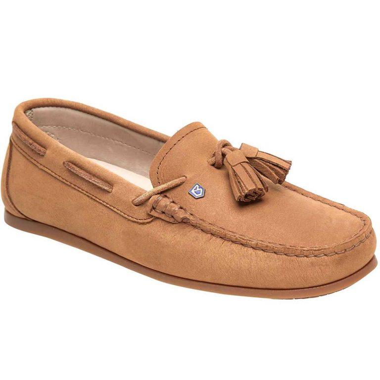 Dubarry Jamaica Deck Shoes - Ladies -Tan