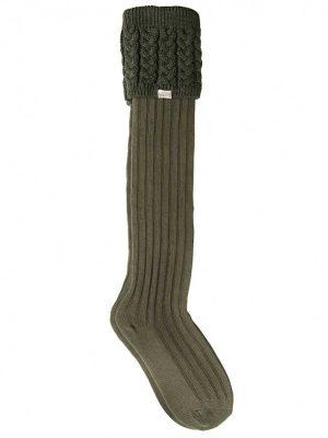 DUBARRY Trinity Luxury Knitted Boot Socks - Olive