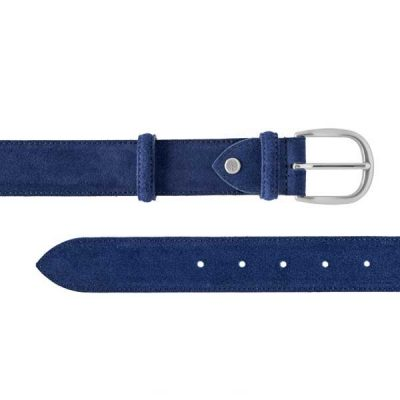 Barker Plain Belt - Blue Suede - One size