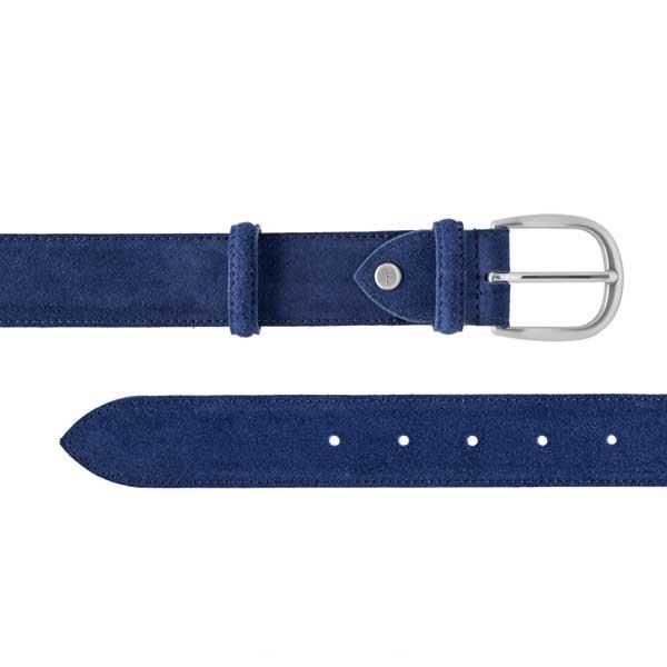 Barker Plain Belt - Blue Suede - One size