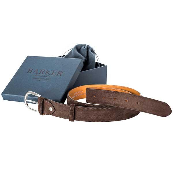 Barker Plain Belt - Brown Suede - One size