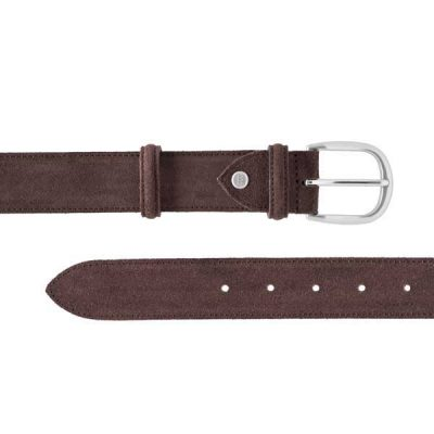 Barker Plain Belt - Brown Suede - One size