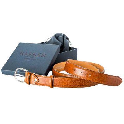 Barker Plain Belt - Cedar Grain Leather