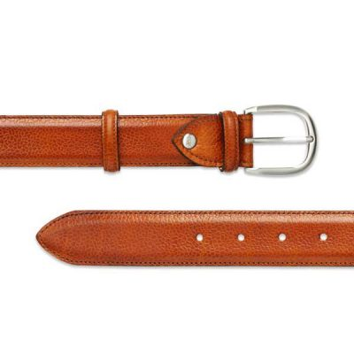 Barker Plain Belt - Cedar Grain Leather - One size