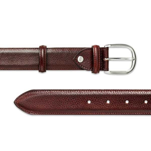 Barker Plain Belt - Cherry Grain Leather - One size