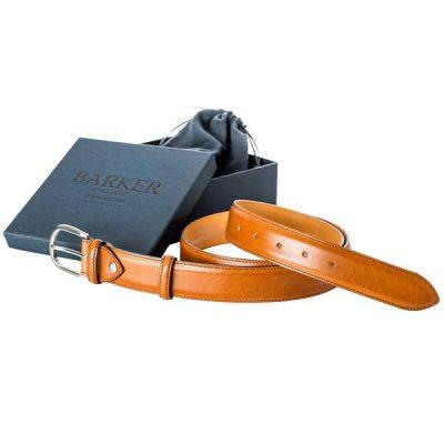 Barker Plain Belt - Conker Calf Leather - One size
