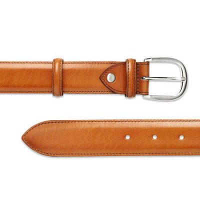 Barker Plain Belt - Conker Calf Leather - One size