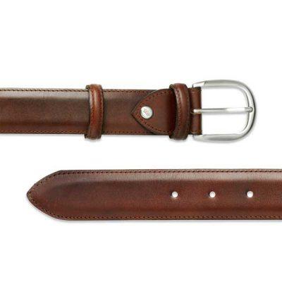 Barker Plain Belt - Mahogany Calf Leather - One size