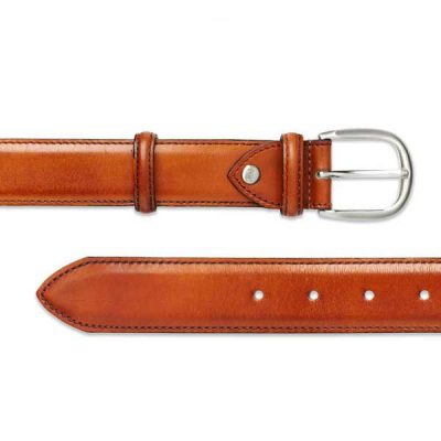 Barker Plain Belt - Rosewood Calf Leather - One size