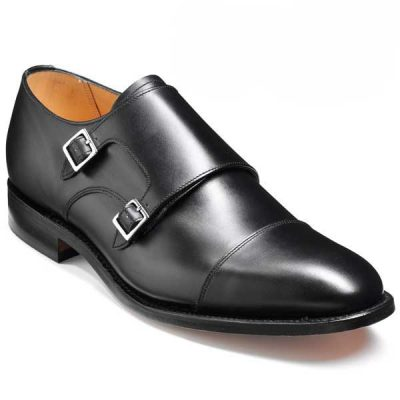 Barker Shoes - Tunstall - Double Monk Strap - Black Calf