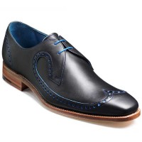 Barker Shoes - Woody - Navy & Blue Calf