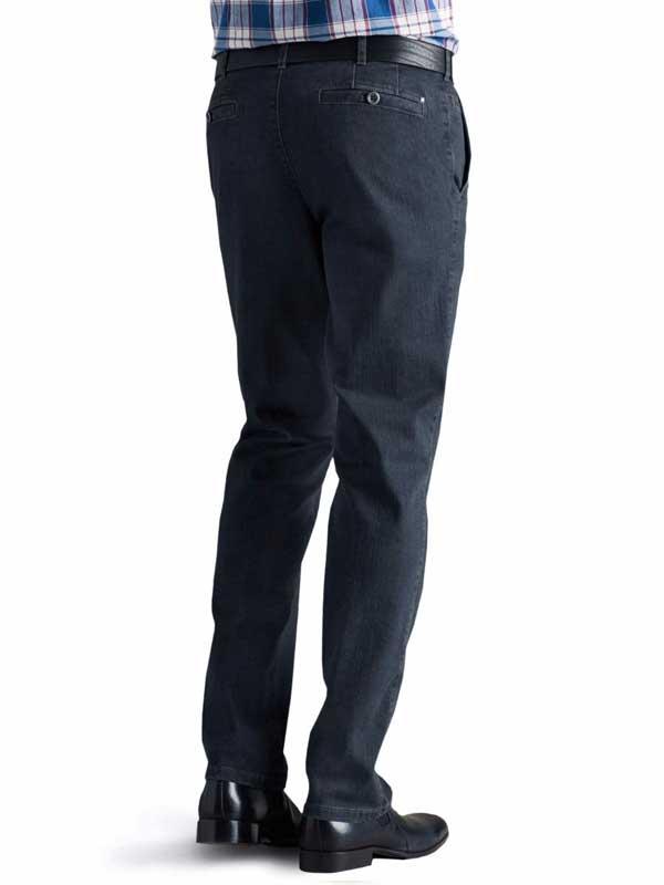 Meyer Stretch Core Spun Denim Trousers - Roma 629 - Blue