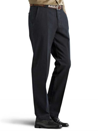 Meyer Roma 629 Denim Trousers - T400 Stretch Core Spun - Navy