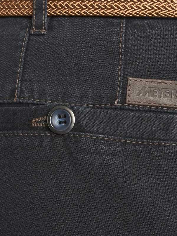 Meyer Stretch Core Spun Denim Trousers - Roma 629 - Navy
