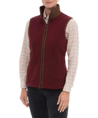 ALAN PAINE - Ladies Aylsham Fleece Gilet - Bordeaux