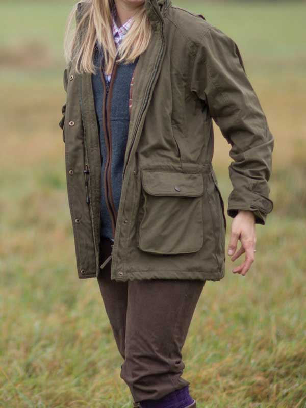 d0e8f89ad489e Alan Paine – Ladies Dunswell Waterproof Field Coat – Olive Green