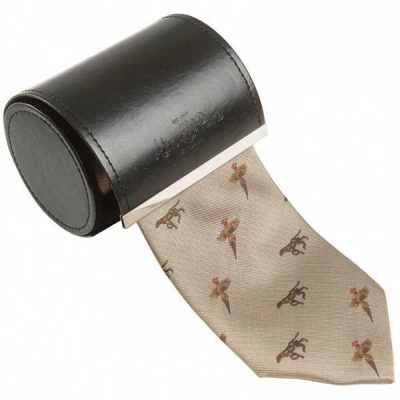 Alan Paine - Ripon Silk Tie - Pheasant & Dog Design - Gold