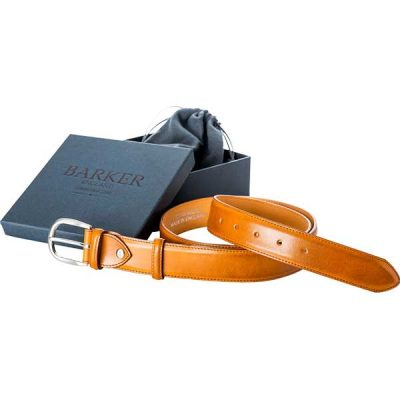 Barker Plain Belt - Cedar Calf Leather - One size