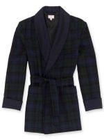 Derek Rose - Black Watch Tartan Wool Smoking Jacket