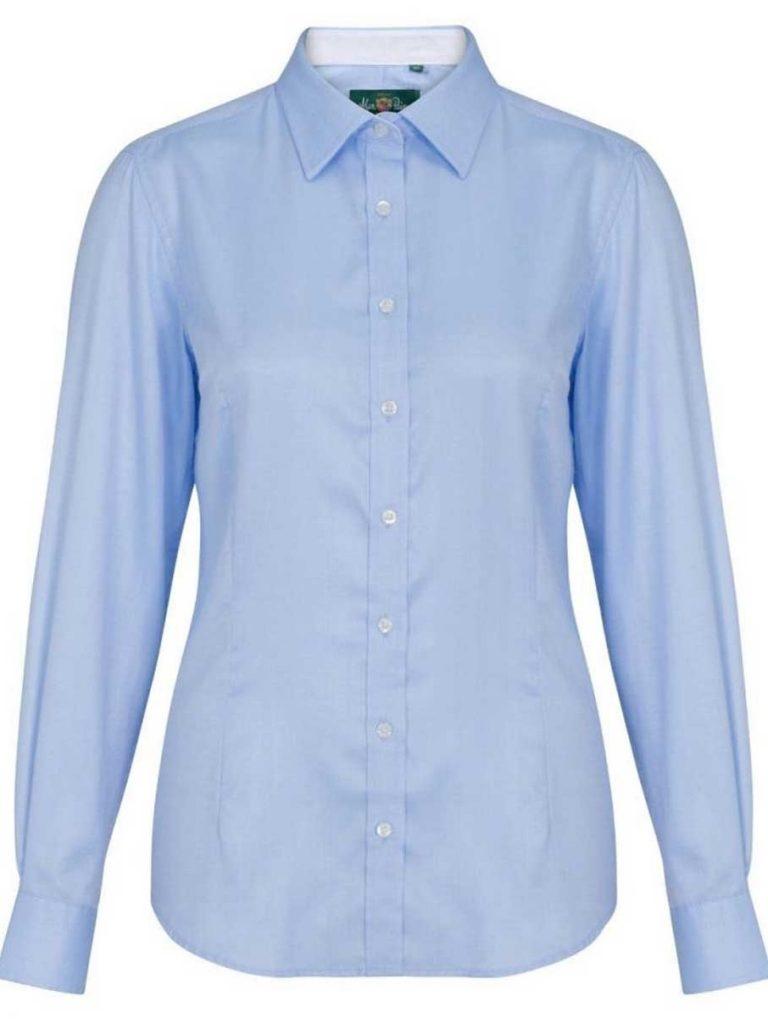 ALAN PAINE - Ladies Bromford Shooting Shirt - Baby Blue