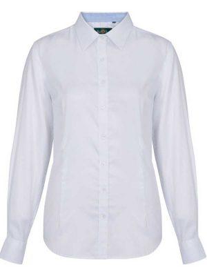 ALAN PAINE - Ladies Bromford Shooting Shirt - White