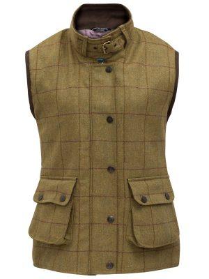 ALAN PAINE - Ladies Rutland Waterproof Waistcoat - Lichen