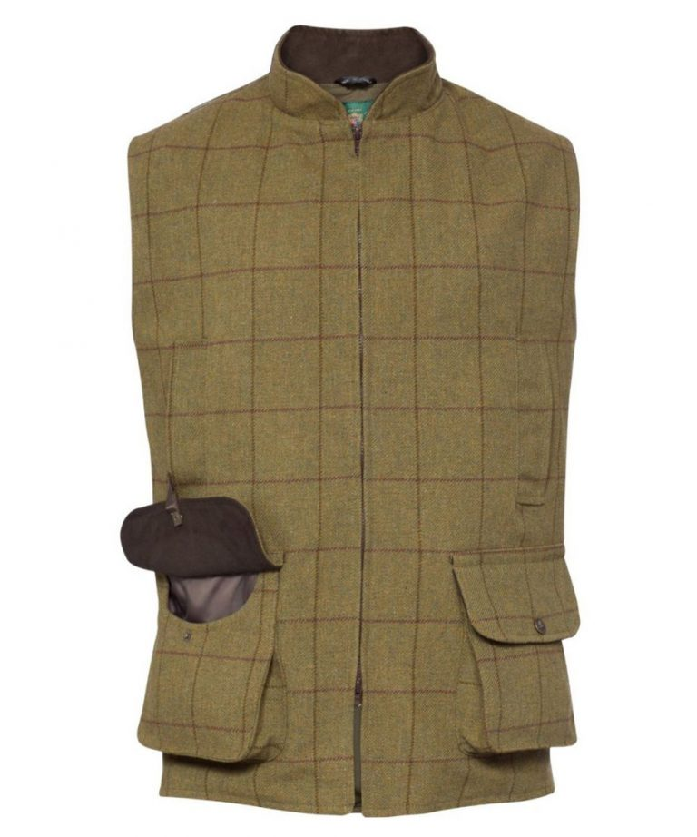 ALAN PAINE Waistcoat - Kids Rutland Tweed - Lichen