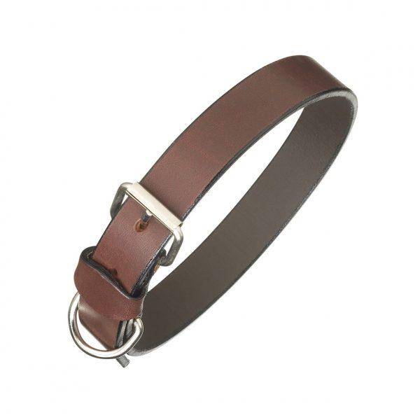 Pampeano Plain Leather Dog Collar - Brown