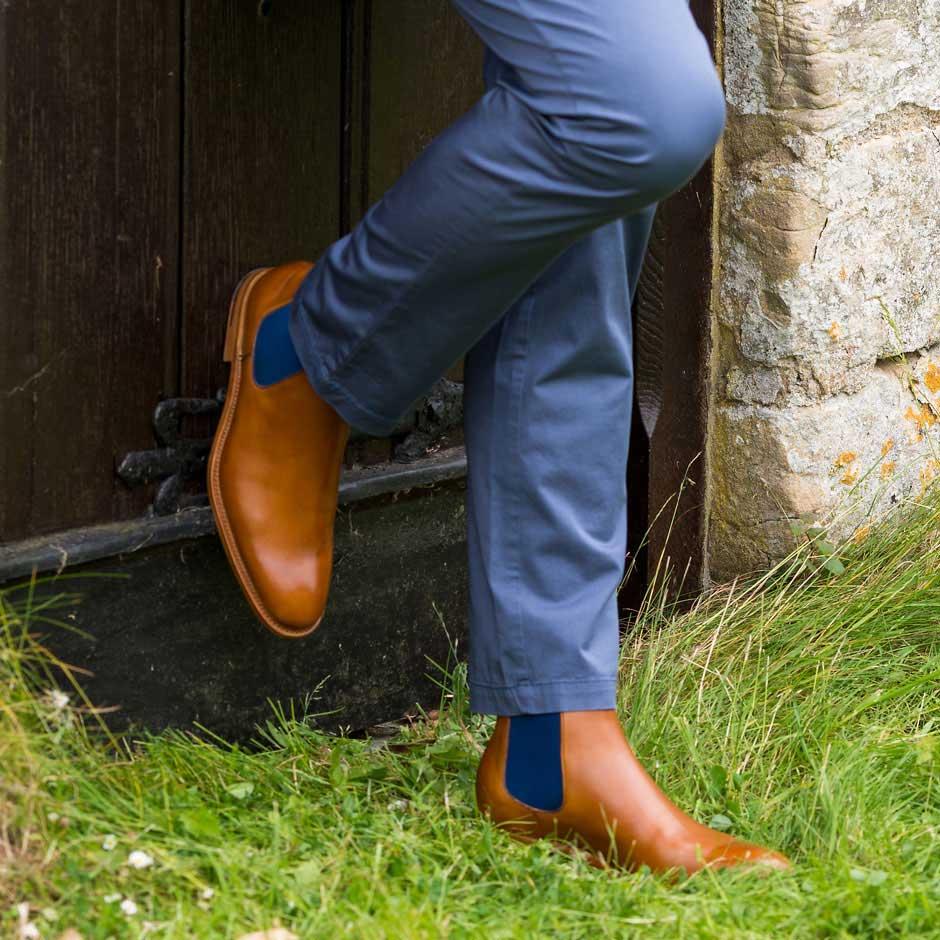 6cb61311819 BARKER Hopper Boots - Mens Chelsea - Cedar Calf