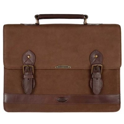 Dubarry Belvedere Leather Brief Bag Walnut