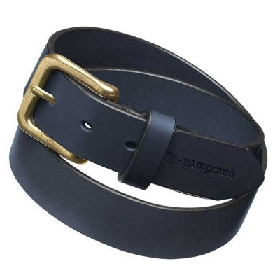 PAMPEANO Leather Belt - Hermano Navy