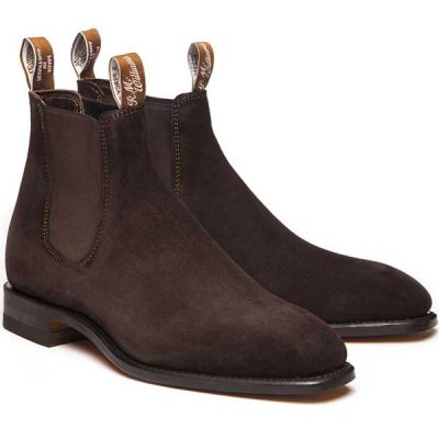 RM Williams - Suede Comfort Craftsman Boots - Brown Suede
