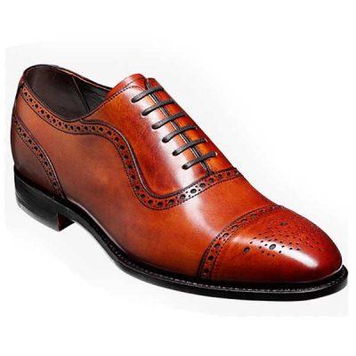 Barker Shoes - Warrington - Brogue - Rosewood Calf