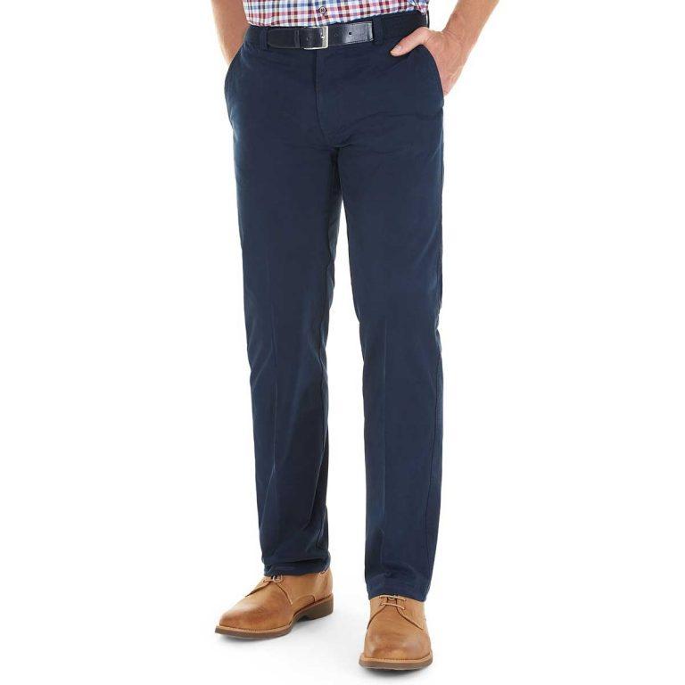 Gurteen Trousers - Longford Summer Stretch Chinos - Navy