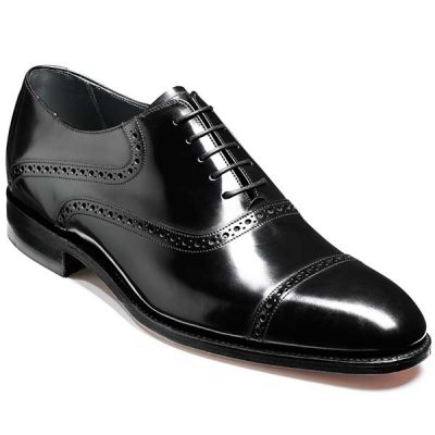 NEW!! Barker Shoes - Wilton Brogue - Black Polish