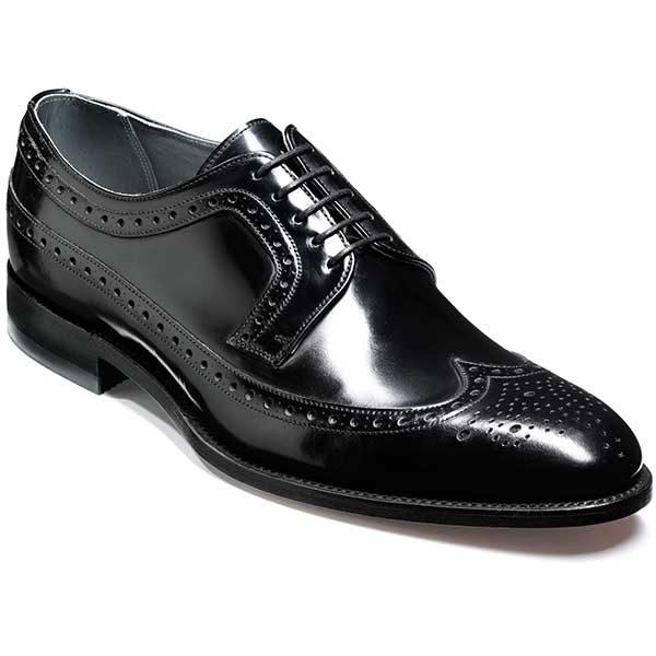 NEW!! Barker Shoes - Woodbridge Brogue - Black Polish
