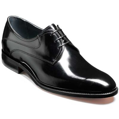 NEW!! Barker Shoes - Wickham - Derby Style - Black Polish