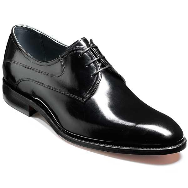 NEW!! Barker Shoes - Wickham - Derby Style - Black Polish