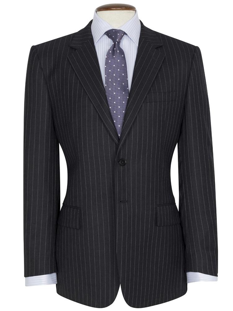 Brook Taverner - Grey Pinstripe Suit - Epsom Classic Fit