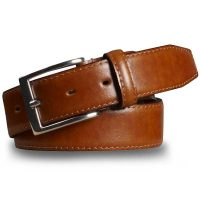 Meyer Trousers Stretch Leather Belt - Tan