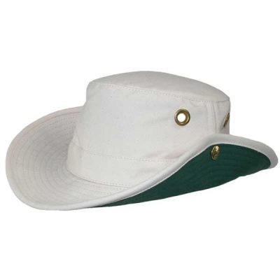 Tilley Hats - T3 Snap-Up - Natural & Green Under Brim