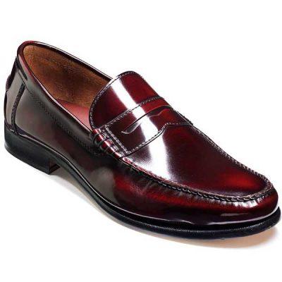 Barker Shoes - Newington - Burgundy Hi-Shine - Loafers